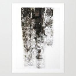 Black roller strokes Art Print