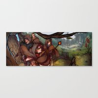 dragon age Canvas Prints featuring Dragon Age by DustyLeaves