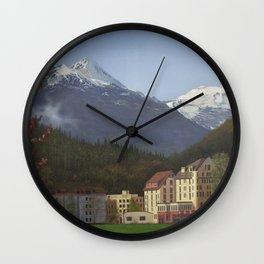 Gateway to the Alps Wall Clock