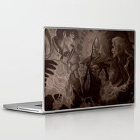 dragon age Laptop & iPad Skins featuring Dragon Age: Arcane Horror by Couple Of Kooks