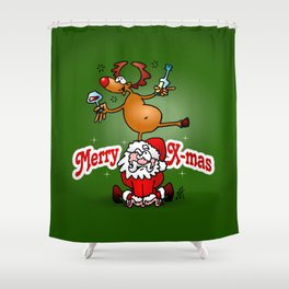 Merry X-mas Shower Curtain
