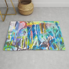 Abstract landscape expressionist Rug