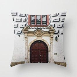 Special Edition Krakow Old Town Facade Throw Pillow