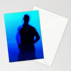 Blue Silhouette Stationery Cards
