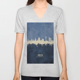 Munich Germany Skyline Unisex V-Neck