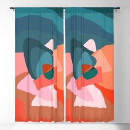 Mid Century Abstract 001 Blackout Curtain