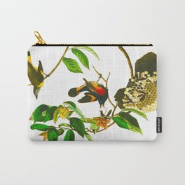 Vintage Scientific Bird & Botanical Illustration Carry-All Pouch