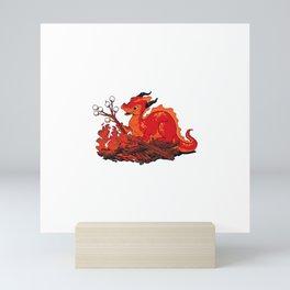 Smore the Dragon Mini Art Print