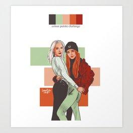 SKAM colour palette challenge Noora/Eva Art Print