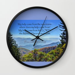 Psalms 121:1-2 Wall Clock