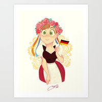 germany Art Prints featuring Germany by Melissa Ballesteros Parada
