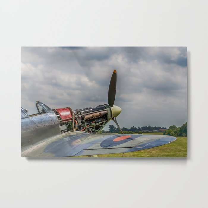 Covers Off Hawker Hurricane Metal Print