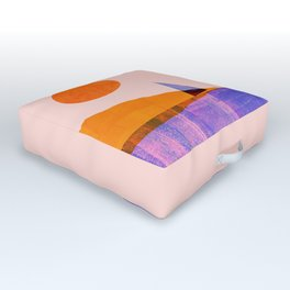 Abstraction_Sailing_Lake_Ocean_Minimalism_001 Outdoor Floor Cushion