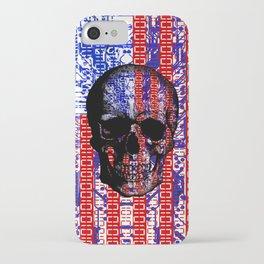 US Skull in a digital circuit. iPhone Case