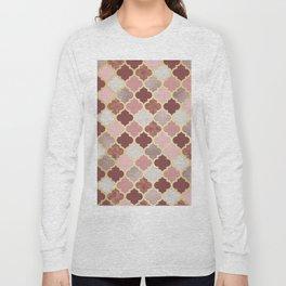 Warm rose gold moroccan Long Sleeve T-shirt