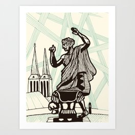 Berlin - Muse of History Art Print