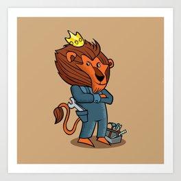 cartoon lion. Art Print