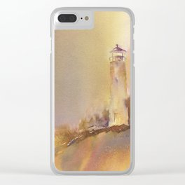 A golden, Crisp Point Clear iPhone Case