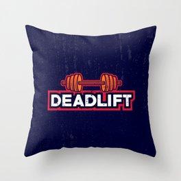 Deadlift-Fitness Throw Pillow