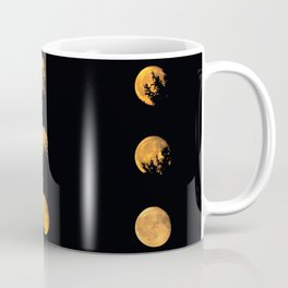Red blood waning moon Coffee Mug