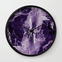 Microcosmos Blanco Wall Clock