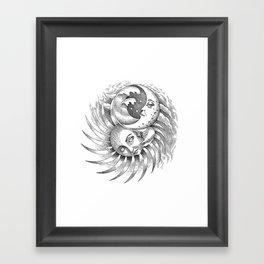 Moon and Sun Framed Art Print