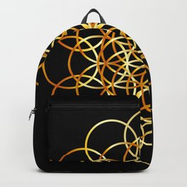 Flower or circle of life Backpack