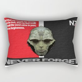 NEVER FORGET - Thane Krios - Mass Effect Rectangular Pillow