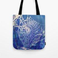 dreamcatcher Tote Bags featuring dreamcatcher by Luiza Lazar