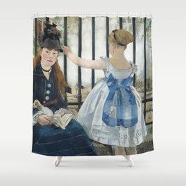 Edouard Manet The Railway 1873 Painting Shower Curtain