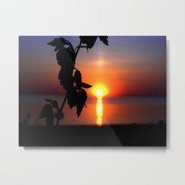 Reflecting Sun Metal Print