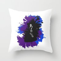 saxophone Throw Pillows featuring Saxophone Jive by Aaron Gonzalez