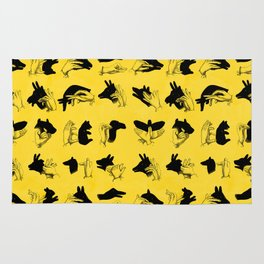 Yellow Shadow Puppets Rug