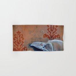 Oil Paint Study - Magpie Pattern Hand & Bath Towel