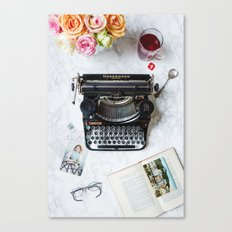 Typewriter Love. Canvas Print