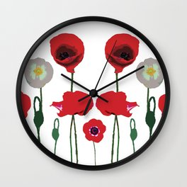 Poppies Pop Wall Clock