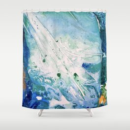 Ocean White Shower Curtain