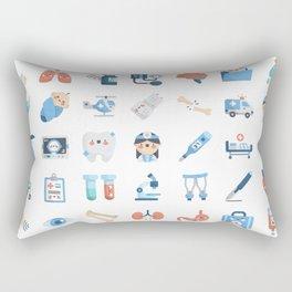 CUTE MEDICINE / SCIENCE / DOCTOR PATTERN Rectangular Pillow