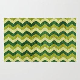 Green Wood Shuffle Rug