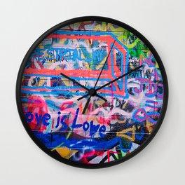 Writing on the Wall Wall Clock
