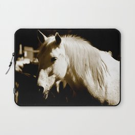 White Horse-Sepia Laptop Sleeve