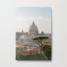 St. Peter's Basilica at Sunset Metal Print