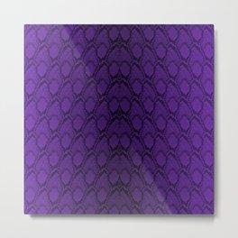 Purple and Black Python Snake Skin Metal Print