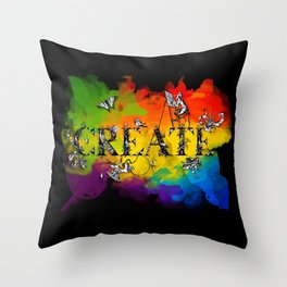 Create (black version) Throw Pillow