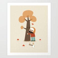 Le gentil bucheron Art Print
