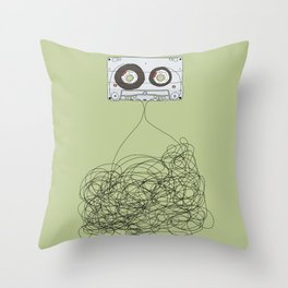 Analog Unravelled Throw Pillow