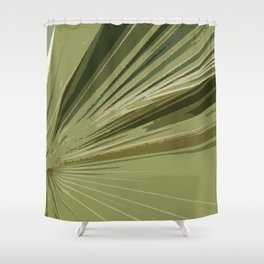 The Green Tones Of A Palm Frond Shower Curtain