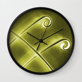 Papillon d'or Wall Clock