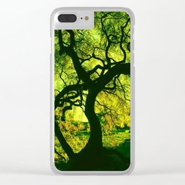 Green is the Tree Clear iPhone Case