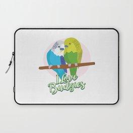 Funny Budgerigar Budgie Pet Bird Lover Nerdy Gift Laptop Sleeve